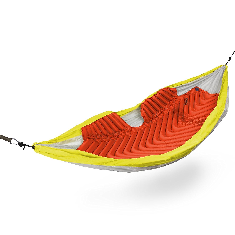 Klymit Aufblasbare Outdoor Campingmatte Luftmatratze isoliert Hängematte V Sleeping Pad, ROT/Zeichen, schwarz