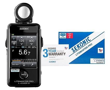 Amazon.com: Sekonic LiteMaster Pro L 478DR U Light Meter For PocketWizard  System (401 477): Camera U0026 Photo