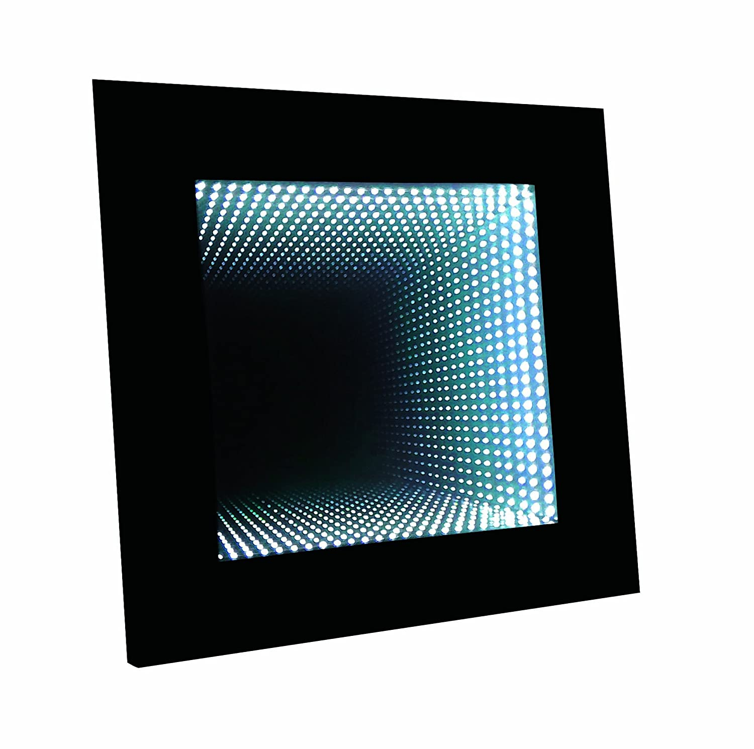 Amazon homelegance decorative mood light with led lights wall amazon homelegance decorative mood light with led lights wall accent lighting infinity mirror with black wooden frame home kitchen jeuxipadfo Image collections