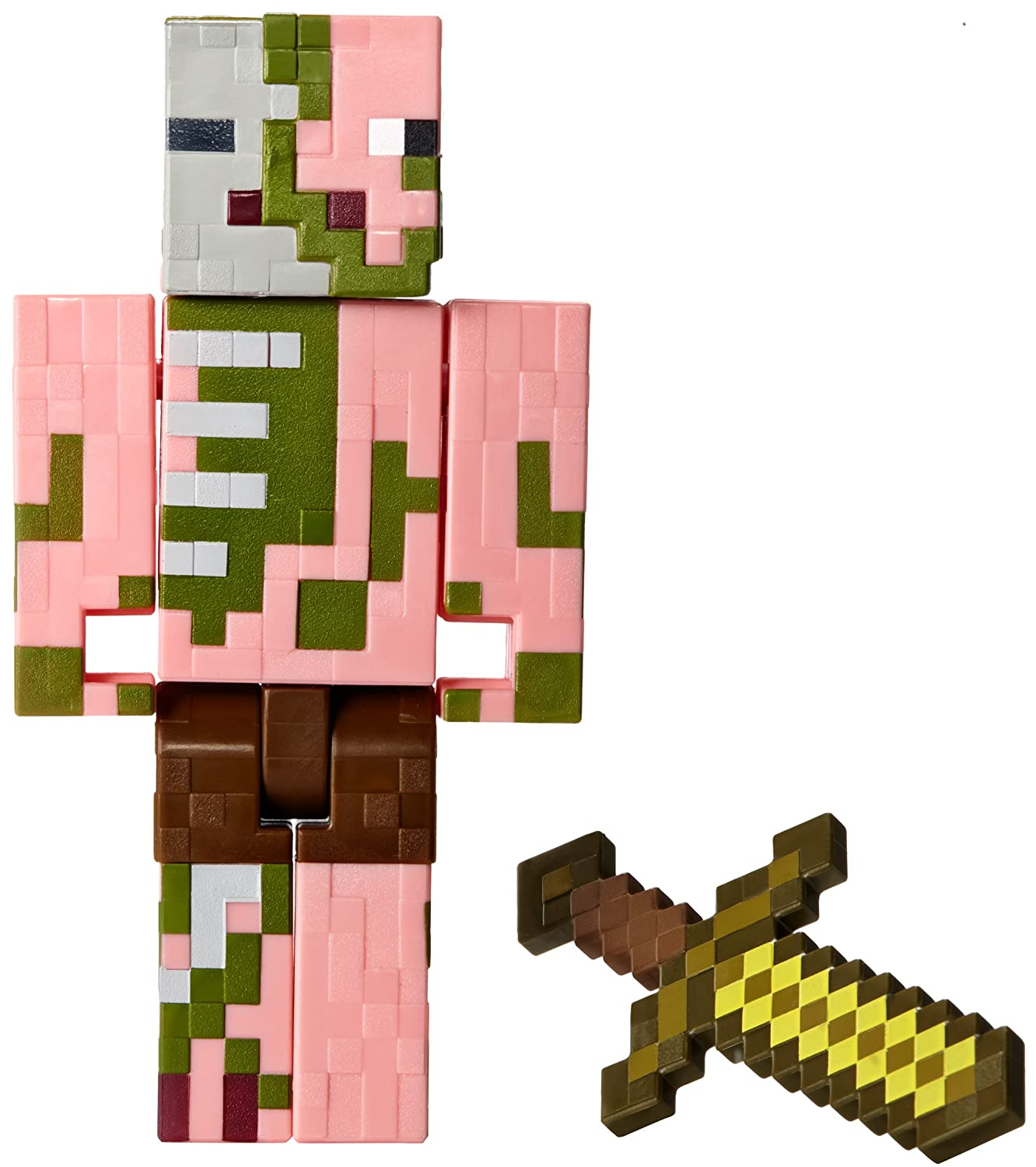 Amazon.com: Minecraft Series 2 Zombie Pigman with Sword Action ... for Minecraft Characters Zombie Pigman  565ane