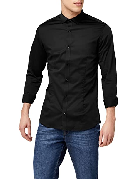 differently popular stores well known Jack and Jones Men's Parma Long Sleeve Super Slim Fit Casual Shirt