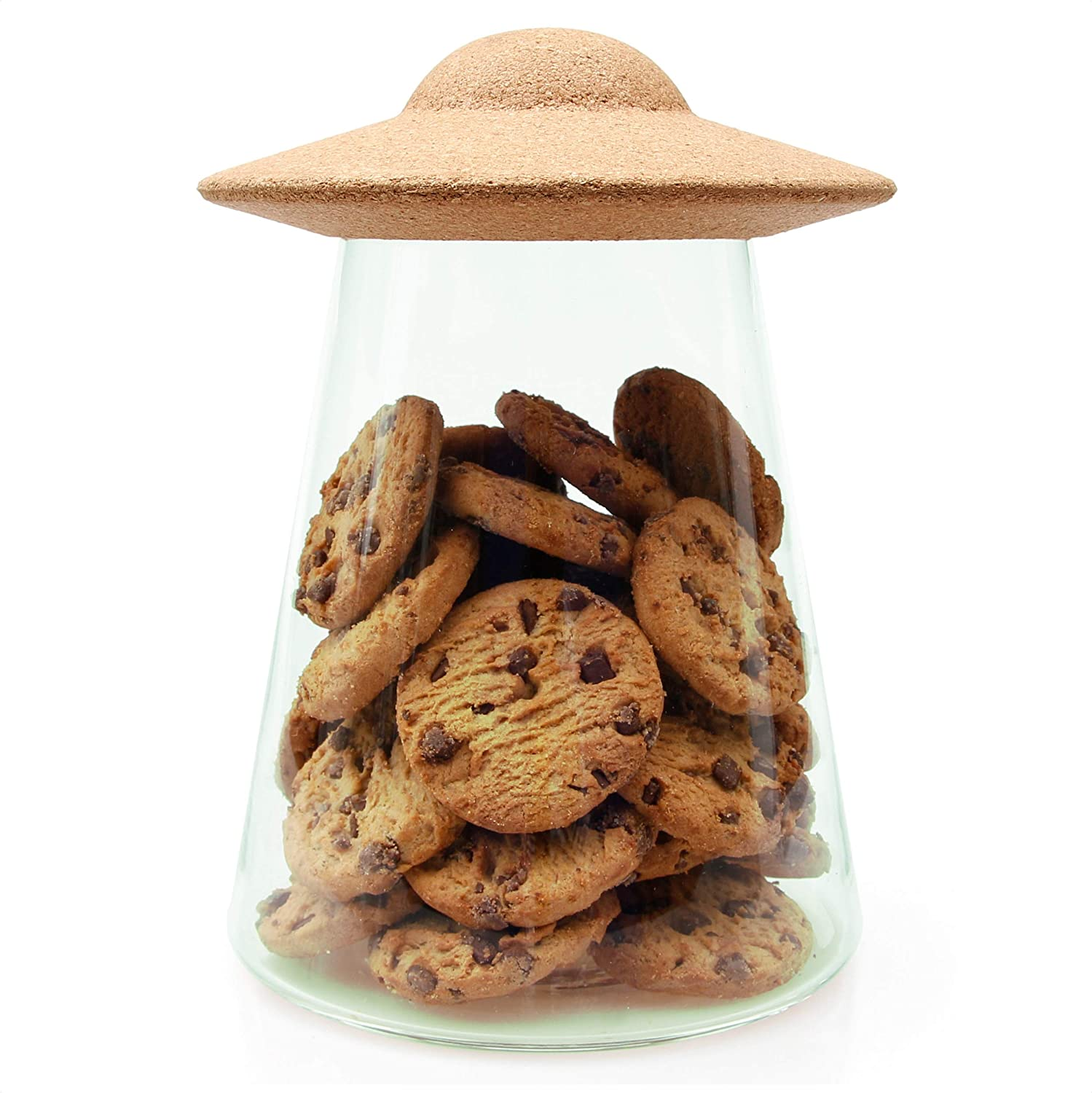Suck Uk Sk Storeufo1 Ufo Food Containers With Lids Cookie Jar Glass Pantry Storage One Size Amazon Ca Home Kitchen