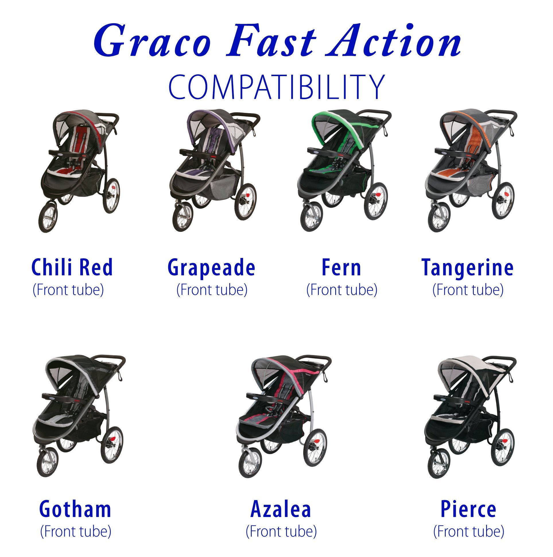 front tire & tube for Graco FastAction Jogger by Lineament (Image #2)