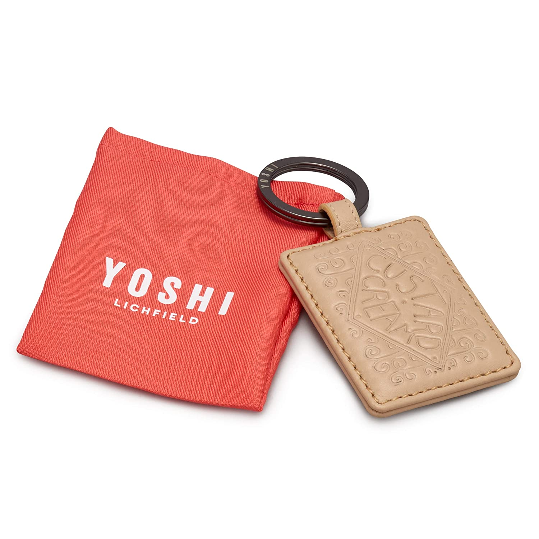 Yoshi Nappa Leather Digestive Biscuit Keyring