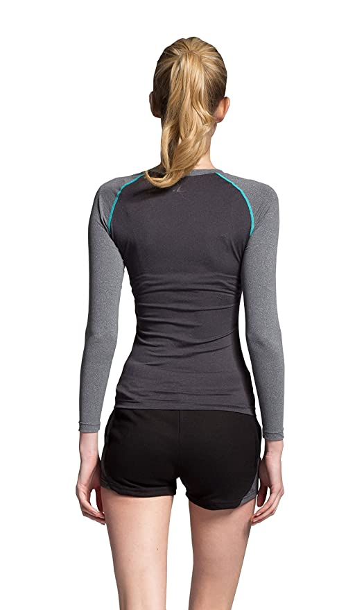 b053489ff0493 Amazon.com  ATHLETE Women Juniors   Teens Rash Guard UPF 50+ UV Sun Block  Sports Long Sleeve Skin Shirts  Sports   Outdoors