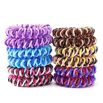 Amazon.com   Spiral Hair Ties 67288794a73