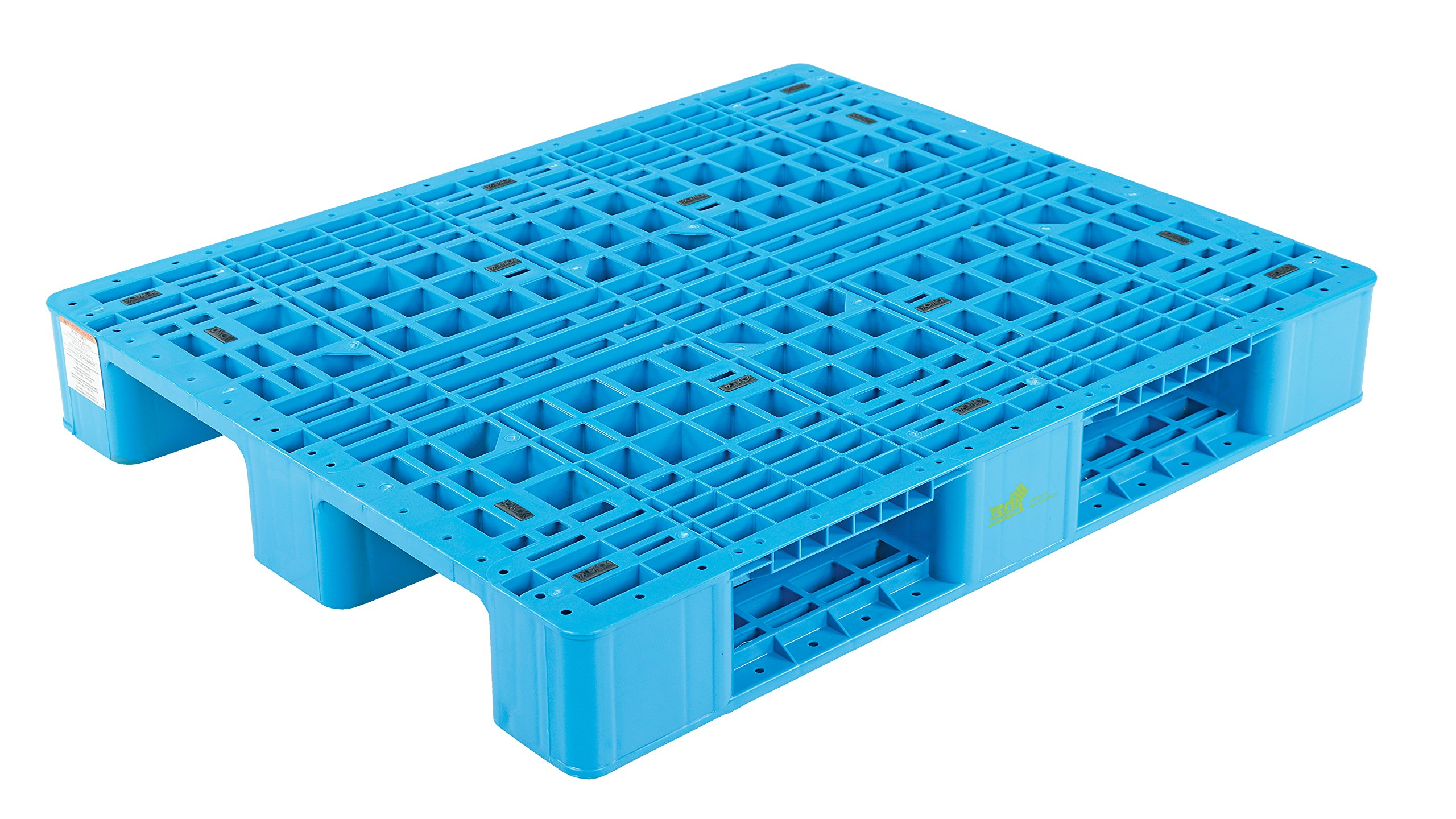 Vestil PLPR-4840-ST Rackable Blue Polyethylene Pallet with 4 Way Entry, 13200 lbs Capacity, 39.25'' Length, 47.125'' Width, 6-1/2'' Height by Vestil