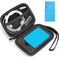 ProCase Shockproof Carrying Case + Silicone Cover Combo for Samsung T5 / T3 Portable 250GB 500GB 1TB 2TB SSD USB 3.1…