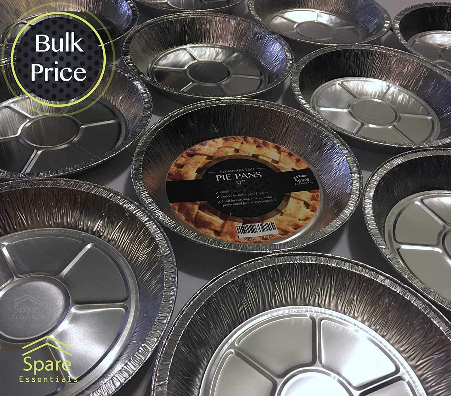 Amazon.com 25 PACK - Prime Pie Pans. Ideal for Tasteful Cakes and Pies. Sturdy Aluminum Foil Pans. Disposable Tin Plates for Tart / Pie - SIZE 9u0027u0027 Kitchen ... & Amazon.com: 25 PACK - Prime Pie Pans. Ideal for Tasteful Cakes and ...