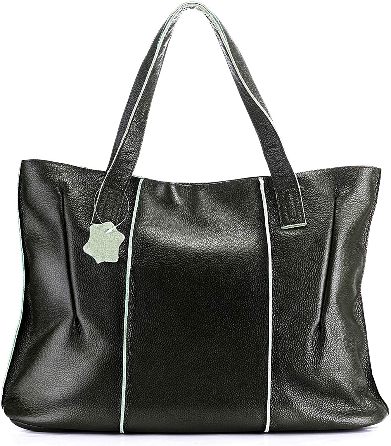 Large Genuine Leather Tote...