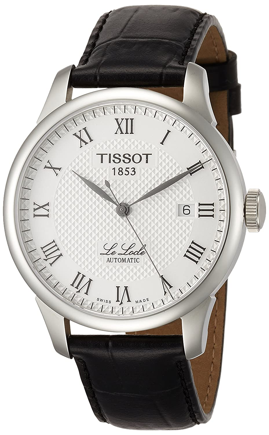 Amazon.com  Tissot Men s  Le Locle  Swiss Automatic Stainless Steel and  Leather Dress Watch 9877124c8fde