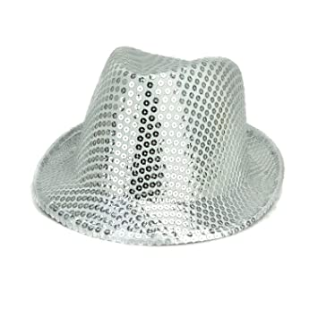Silver Sequin Trilby Party Hat - Fancy Dress - Freshers   University    College Parties f08ed352d419
