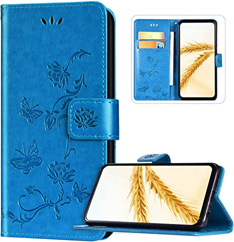Tosim Coque Huawei P40 Lite E Honor 9C Portefeuille /Étui en Cuir Synth/étique Fonction Stand Case Housse Folio /à Rabat Compatible avec Huawei Y7p TOBFE130836 Bleu Y7p