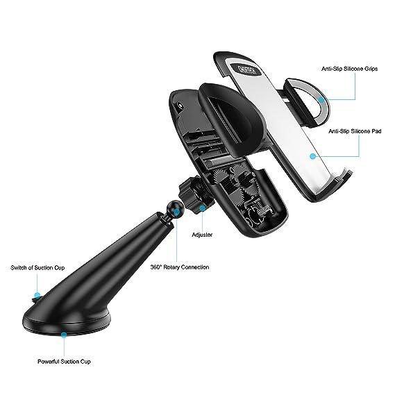 CHOETECH Soporte Universal para teléfono de Coche, Soporte para Parabrisas de Coche con rotación de 360 de la Marca