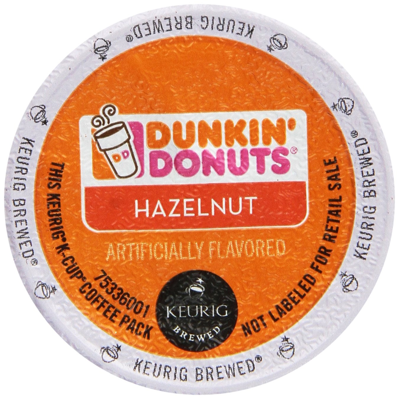Dunkin' Donuts Hazelnut Flavored Coffee K-Cup Pods, For Keurig Brewers, 60 Count