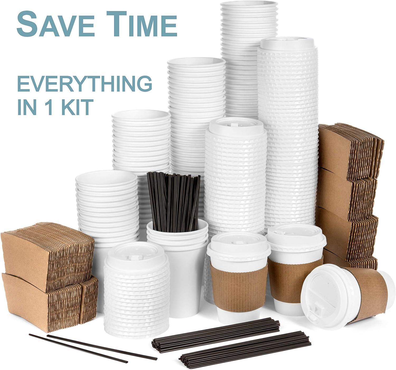 Average Joe JUMBO Set of 120 Paper Coffee Hot Cups with
