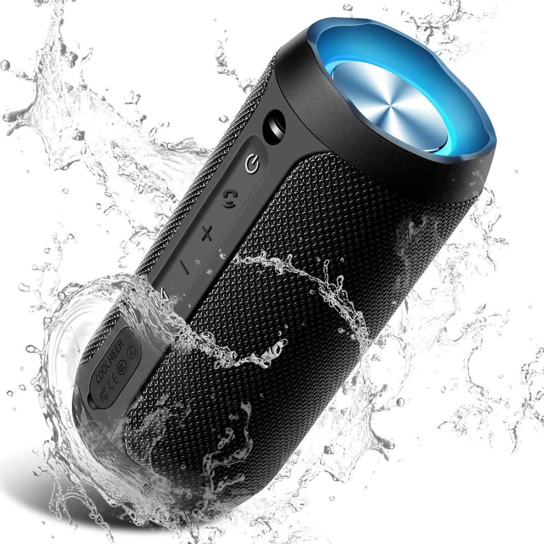 Wireless Speaker Bluetooth, COOCHEER 10W Bluetooth Portable Speaker with  Party Light, IP10 Waterproof Portable Wireless Speakers for Outdoor, TWS,