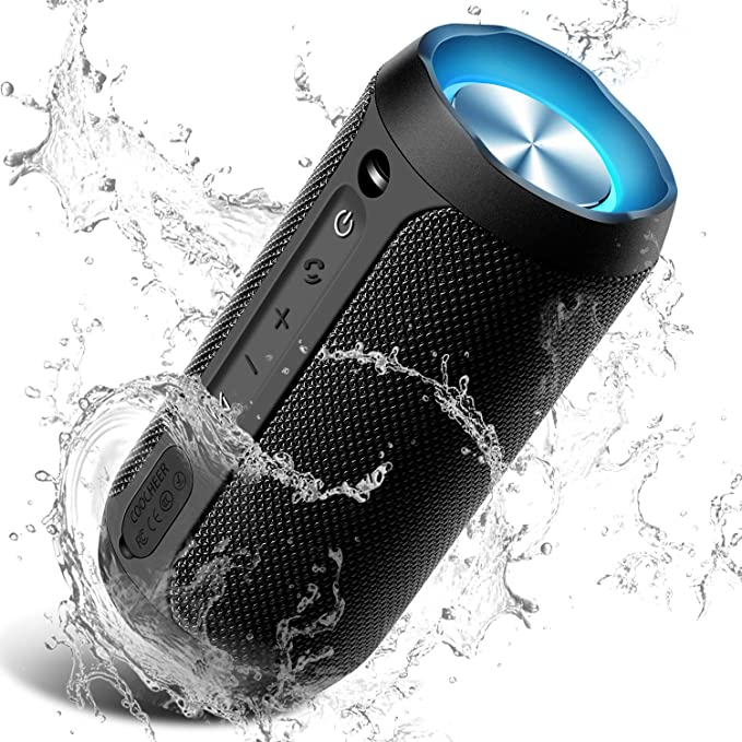 Amazon.com: Wireless Speaker Bluetooth, COOCHEER 24W Bluetooth Portable Speaker with Party Light, IP67 Waterproof Portable Wireless Speakers for Outdoor, TWS, 20+Hour Playtime, Built-in mic,Dustproof