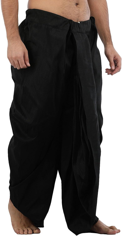 Maenner-Dhoti-Dupion-Silk-Plain-handgefertigt-fuer-Pooja-Casual-Hochzeit-Wear Indexbild 35