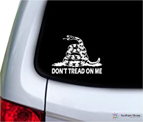 dont tread on me snake military pow sticker set yellow decal logo DTOM air force