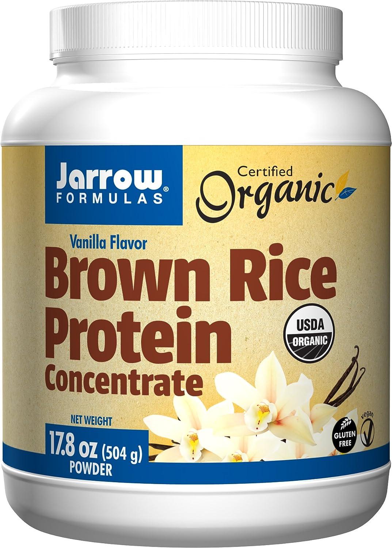 Jarrow Formulas Brown Rice Protein Concentrate, Vanilla Flavor, 17.8 Ounce: Health & Personal Care