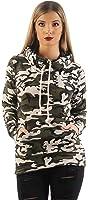 Mr.Shine Damen Kapuzenpullover Schräg Kragen Camouflage Pullovershirt Langarmshirt In Den Größen S, M, L, XL, XXL