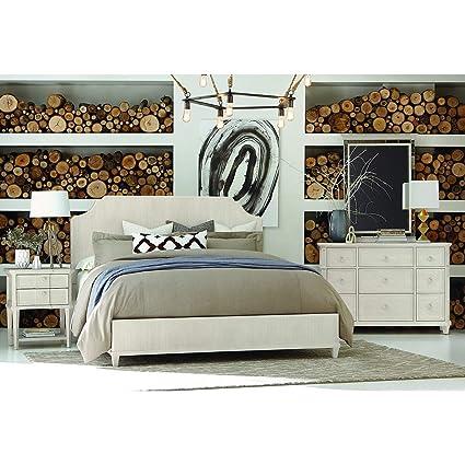 Amazon Com A R T Furniture Roseline Georgia Panel Bed Cream