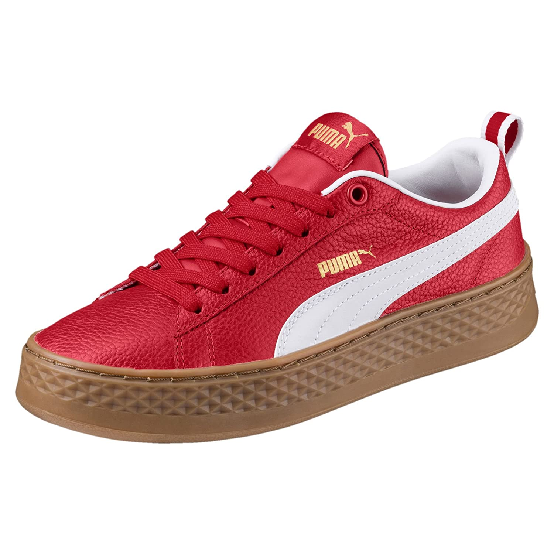 Puma Damen Smash Platform ROT-puma VT Sneaker, Ribbon ROT-puma Platform Weiß 679acf