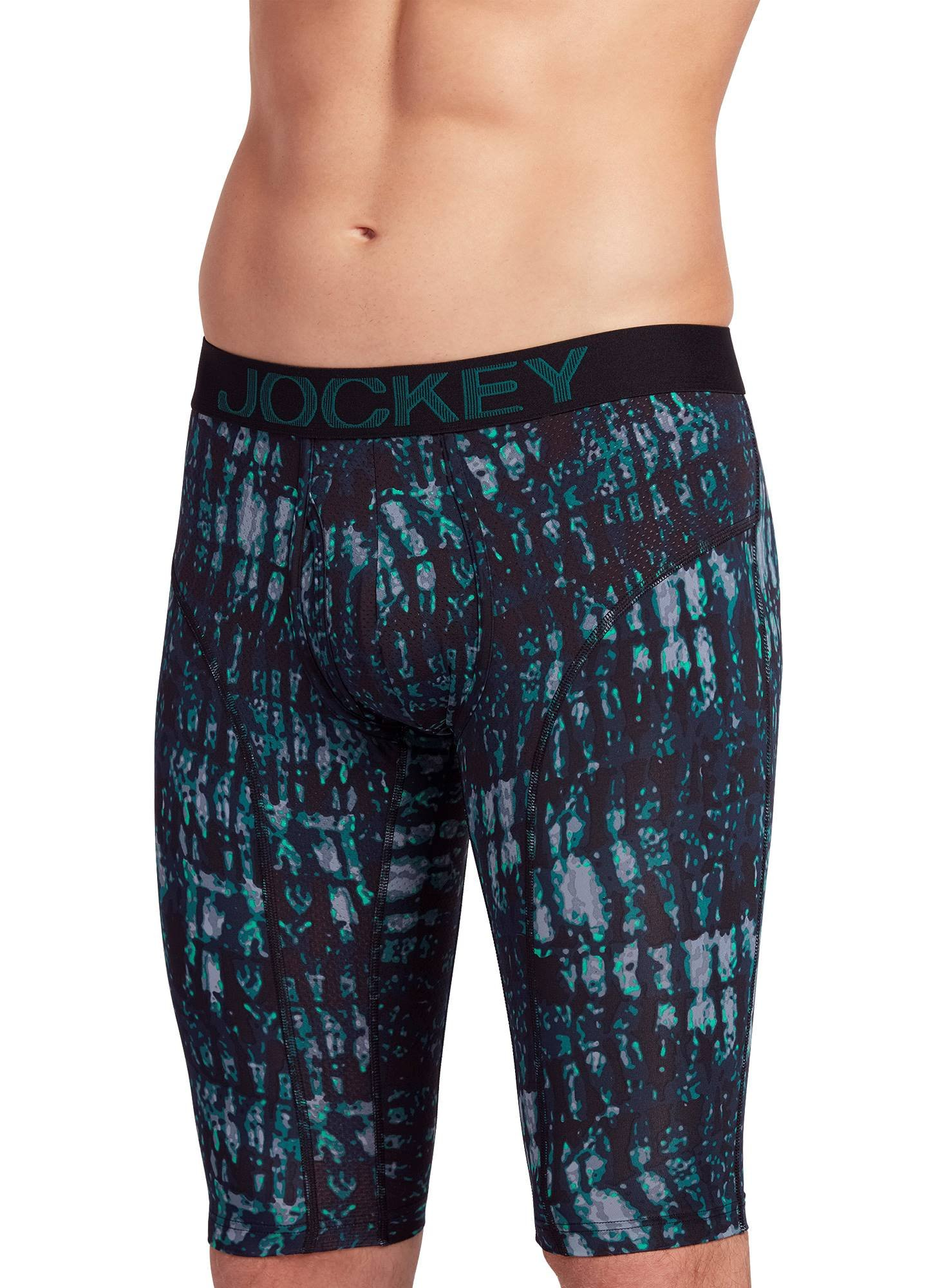 Jockey Men's Underwear RapidCool™ Quad Short - 2 Pack, Emergent Grey and Green/True Navy, 2XL