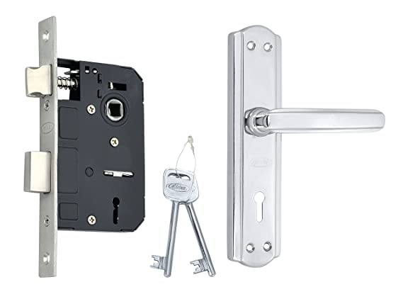 Spider Steel Mortice Key Lock Complete Set With Chrome Plated Finish (S606MCP + RML4)