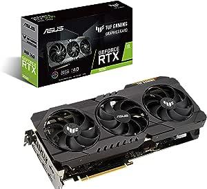 ASUS TUF Gaming NVIDIA GeForce RTX 3090 OC Edition Graphics Card (PCIe 4.0, 24GB GDDR6X, HDMI 2.1, DisplayPort 1.4a, Dual Ball Fan Bearings, Military-Grade Certification, GPU Tweak II)