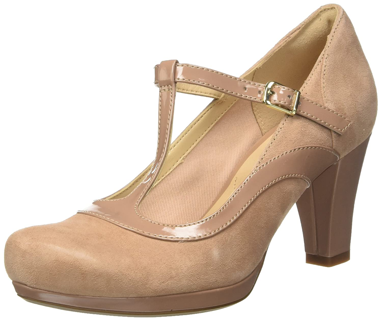 Clarks Chorus Pitch, Zapatos de Tacón para Mujer 43 EU|Beige (Beige Combi)
