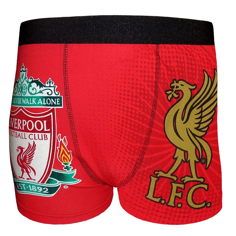 Liverpool FC - Calzoncillos oficiales - Con el escudo del club, el Liverbird y el texto «Youll Never Walk Alone»: Amazon.es: Ropa y accesorios