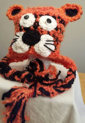 Amazon.com  Crochet Tiger Hat. Made by Bead Gs. ages 4 to 10  Handmade 3bdf2c68924