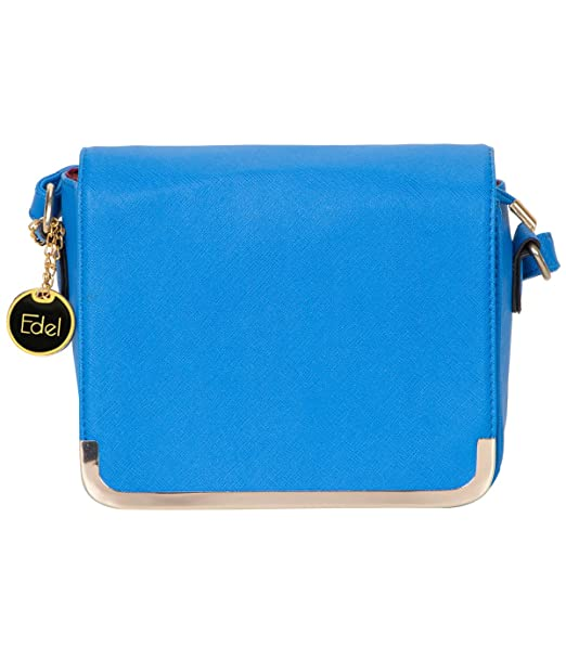 Edel Women s Blue Sling Bag  Amazon.in  Clothing   Accessories 8bb17d9ad