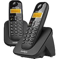 Telefone sem Fio Digital e Ramal Adicional, Intelbras, TS 3112, Preto, Pacote de 2