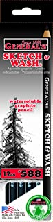 product image for General Pencil 588GP Sketch and Wash Pencils,Graphite, 12-Pack