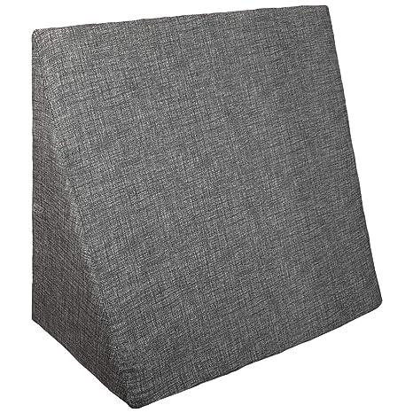 Innovaciones Roser Cojín Cuña | Cojín Almohada Lectura Lumbar | Almohada Terapéutica para Cama y Sofá, Color Liso Estampado Negro, Medida 60x20x40cm