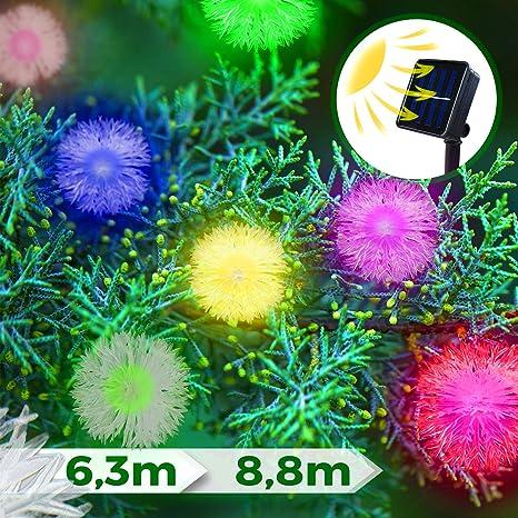 Lichterkette Solar 24 LED weiß Solarlampe Solarlichterkette Gartenbeleuchtung
