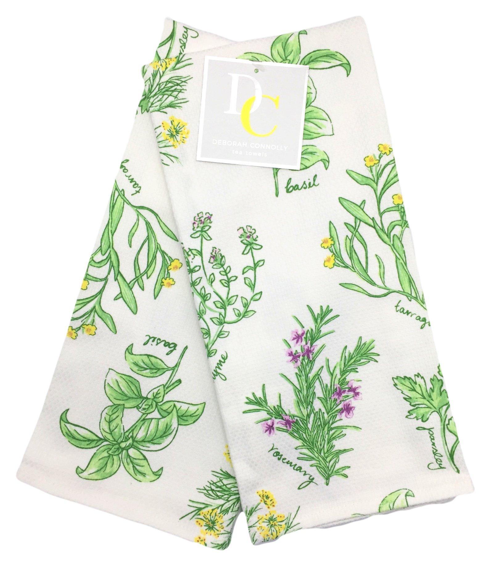 Deborah Connolly Garden Herbs Kitchen Tea Towels