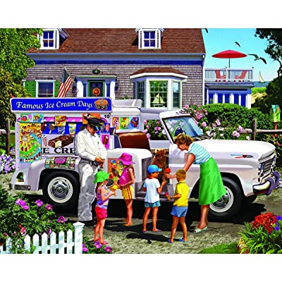 White Mountain Puzzles Ice Cream Truck-1000 Piece Puzzle-Designer: Lewis T. Johnson: Toys & Games