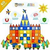 Tytan Magnetic Tiles & Building Blocks - STEM Certified Toys, Magnets for Kids, Boys/Girls Fun, Creative, Educational - 60 Pi