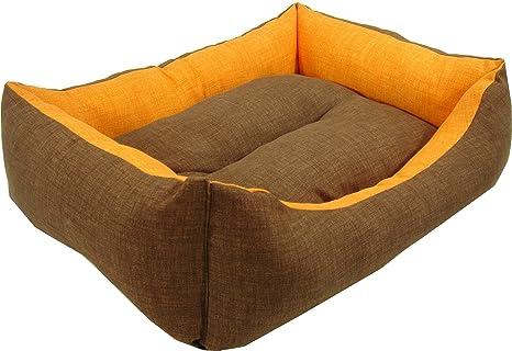 iOn Cama Cuna para Perro Y Gato 55x45 Bicolor Marron Y Naranja