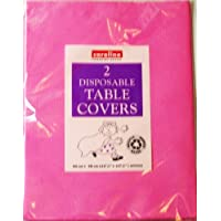 BRIGHT PINK Paper Tablecloths 2 per pack (Caroline){90cm x 90cm}