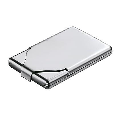 Reflects Zigaretten Visitenkartenbox Aus Metall Tough Mattsilber