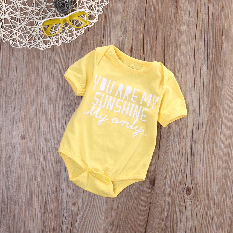 Susan1999 Newborn Kids Baby Girls Infant Short Sleeve Rompers Cotton Jumpsuit