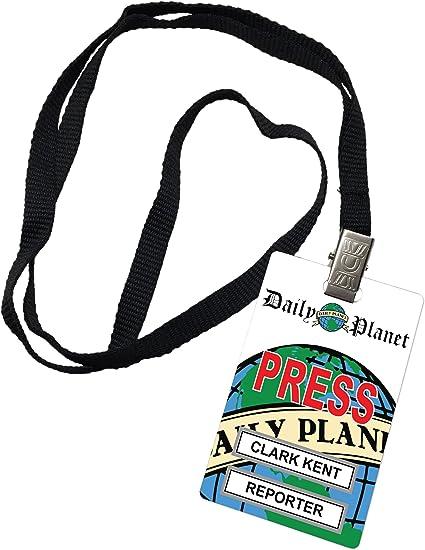 Clark Kent diario planeta pase de prensa diseño ID Badge Prop ...
