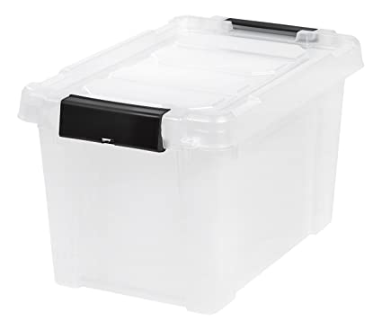 IRIS 5 Gallon Store-it-All Heavy Duty Stackable Utility Tote Clear with  sc 1 st  Amazon.com & Amazon.com: IRIS 5 Gallon Store-it-All Heavy Duty Stackable Utility ...