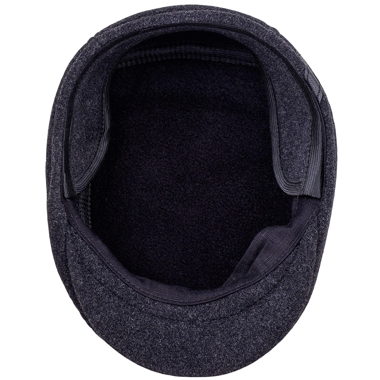 Sterkowski Warm Wool Blend Petersham Ivy League Flat Cap with Earflap   Amazon.co.uk  Clothing b5556179659f