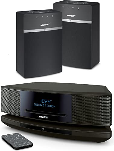Bose Wave SoundTouch IV – Espresso Black SoundTouch 10 x 2 Starter Pack – Black Bundle Multiroom Wi-Fi Music Systems